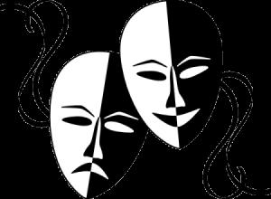 Máscaras de teatro. Piel mixta.